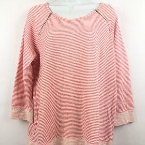 Christopher & Banks women's pink stripes  3/4
